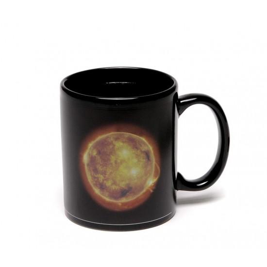 Магическа порцеланова чаша с декорация Слънце и Луна