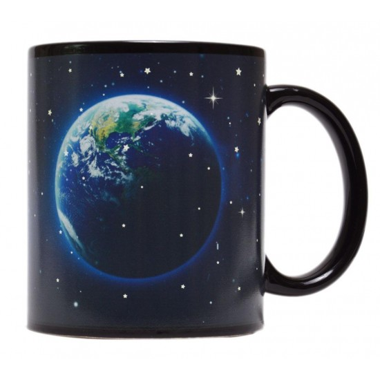 Магическа чаша с декорация Земя и Луна