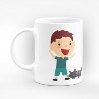 """Чаша """"Честит имен ден"""" - подарък за Петровден"""