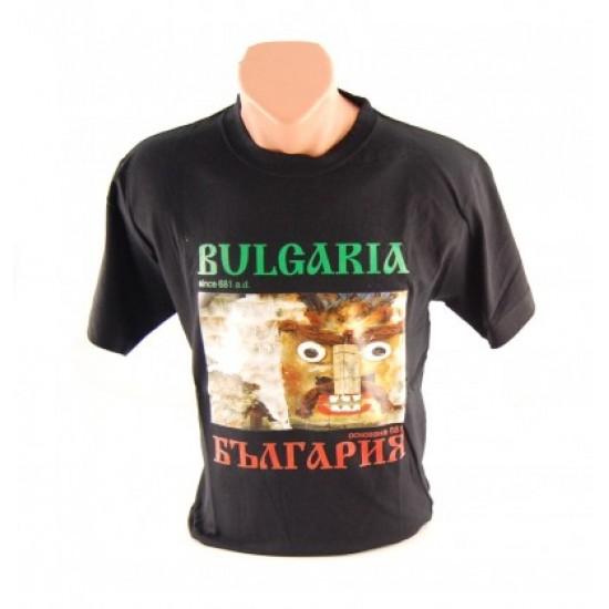 Сувенирна тениска от памук със цветна щампа